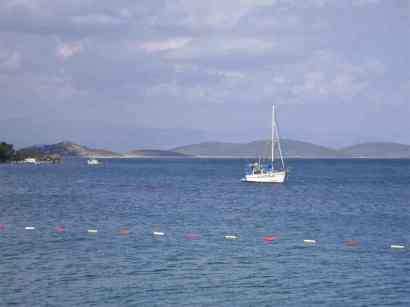 Vista view of Torba Bay Turkey
