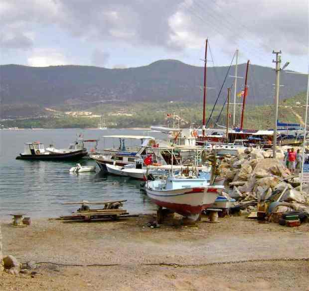 Fishing Boats in Torba Bay Turkey