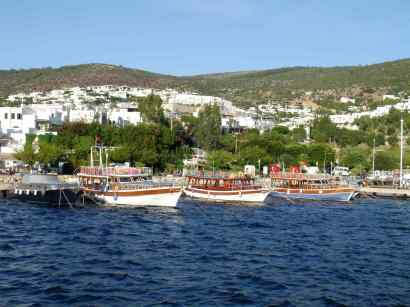 Bodrum Day Boat Harbour Turkey