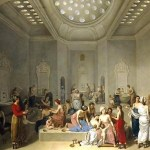 Oil Painting of Turkish Bath Interior