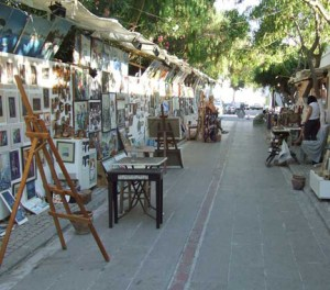 View of Art Street Yalikavak Turkey