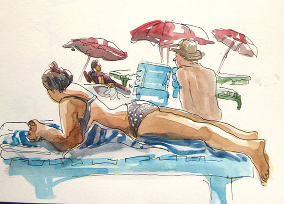 Watercolour sketch by Suhita from Flickr