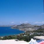 View from the Ada Restaurant near Gumusluk Turkey