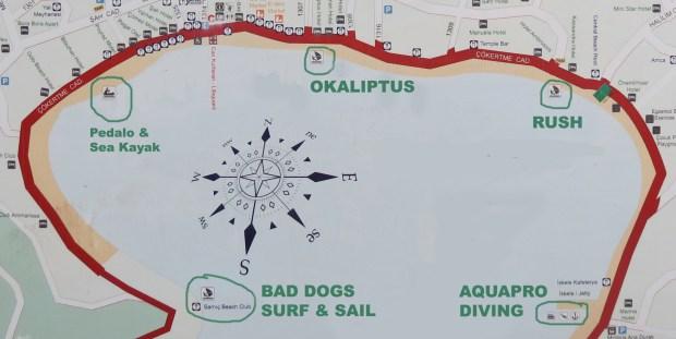 Bitez Water Sports locations Bodrum Peninsula Turkey