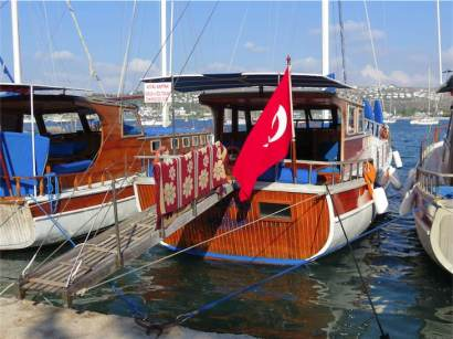 Bitez Day Boat Harbour Bodrum Peninsula Turkey