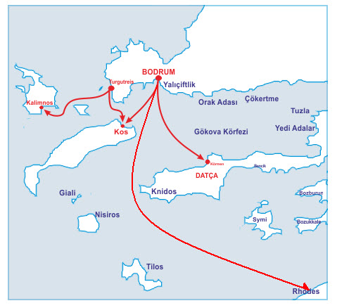 Bodrum Ferryboat Company 2016 Timetable & Price