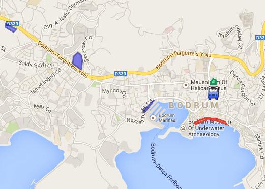 Bodrum Itinerary Shopping Map Turkey