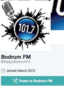 Bodrum FM Twitter Logo