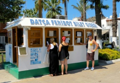 Ticket Office for the Datca Ferry Boat Bodrum Turkey