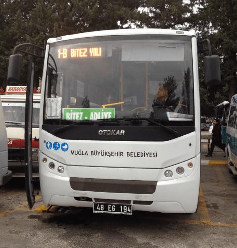 Bitez Public Bus at Bodrum Bus Station Turkey