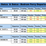 Bodrum - Datca Departures (2017) Ferry Timetable