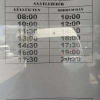 Güllük Bus Timetable to Bodrum & Milas 2017