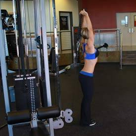 Cable Rope Overhead Triceps Extension