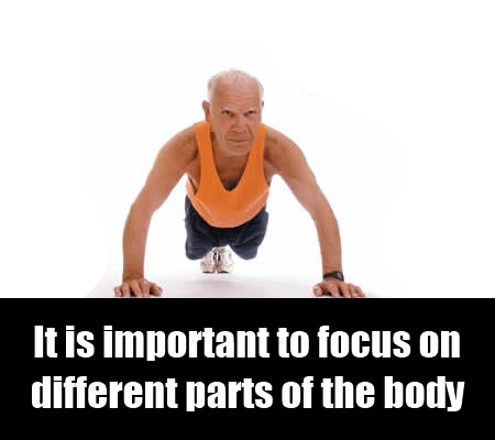Exercise Different Parts of the body