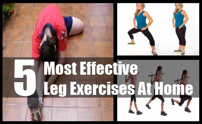 Most Effective Leg Exercises At Home