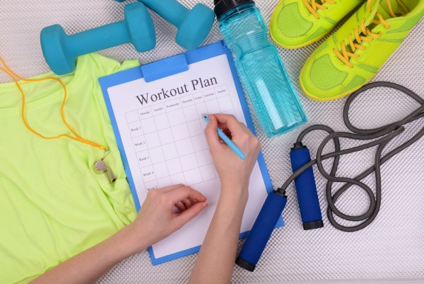 Make your goals visual by creating and strictly following a workout plan.