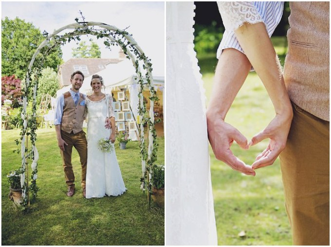 28 Rustic Garden Party Wedding By Candid & Frank Photography