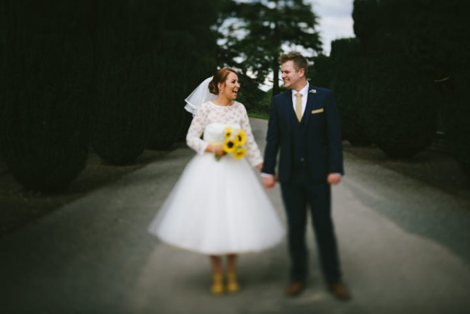 Lauren and Adam's Yellow Wedding with a Candy Anthony Dress By Ed Godden Photography