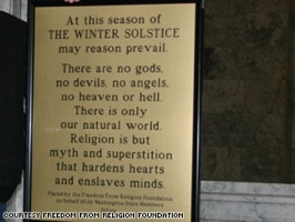 Cnn 2008 Living 12 05 Atheists.Christmas Art.Atheist.Sign.Olympia