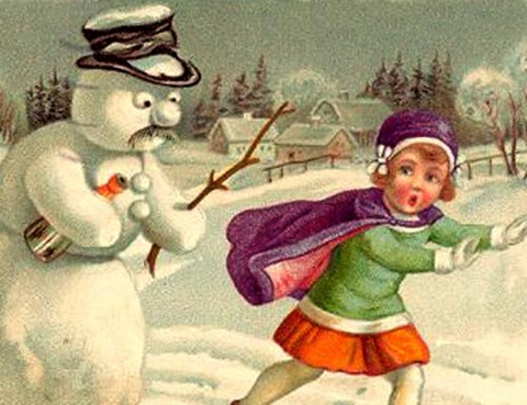 Images Snowman-With-Bottle-And-Stick-3