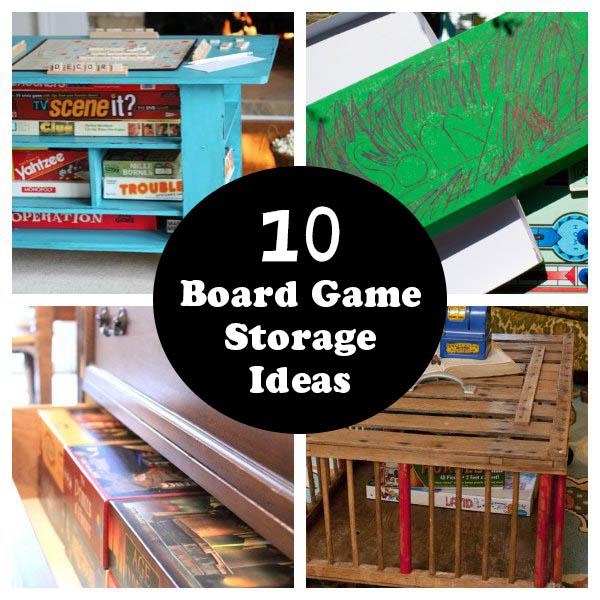 10 id es pour ranger vos jeux du jeu de soci t sur la table et dans les oreilles. Black Bedroom Furniture Sets. Home Design Ideas