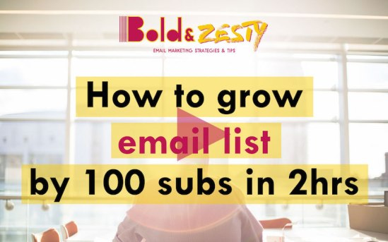 How I grew my email list from 10 to 110 subscribers - video tutorial
