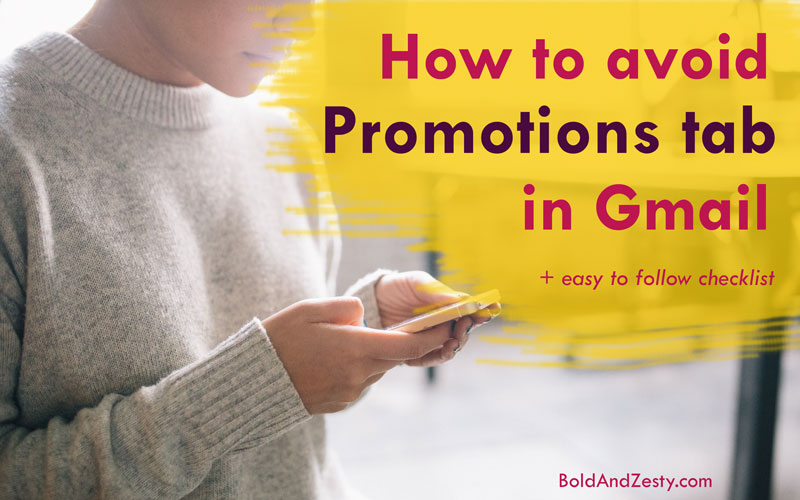 How to avoid Promotions tab in Gmail