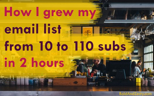 How to grow email list from scratch