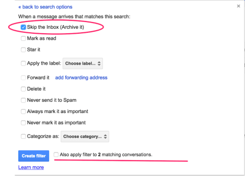 Achieve maximum inbox productivity: set up filters in Gmail that will keep your inbox organized