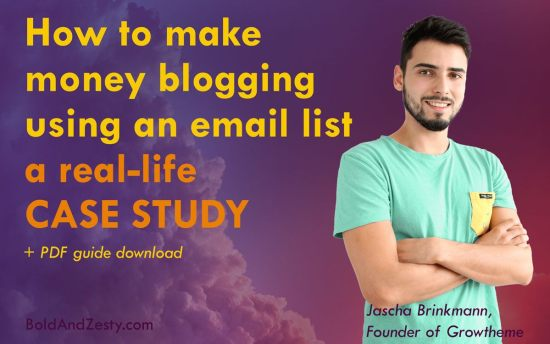 How to Make Money Blogging — Case Study on Jascha Brinkmann. Growtheme, WordPress blog themes