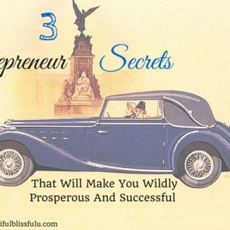 3 entrepreneur secrets that will make you wildly prosperous and successful