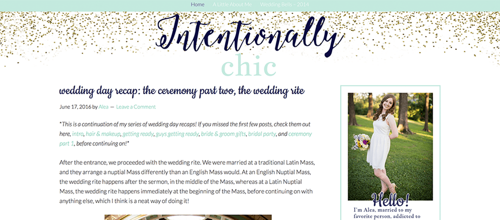 Intentionally Chic WordPress Design
