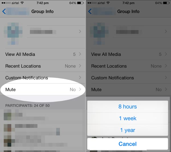 how-to-mute-from-whatsapp-group-info-in-ios-8