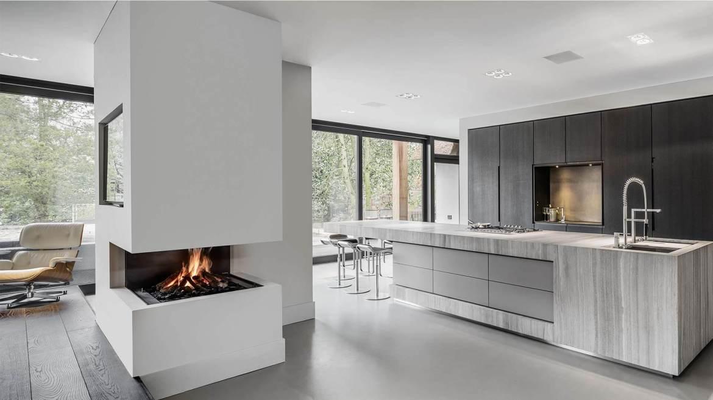 Hoekhaard boley special 12 boley exclusieve openhaarden - Open haard keuken photo ...