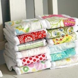 Petite Lemon's Pretty Burp Cloths
