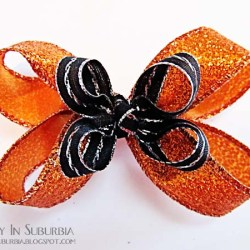 Halloween in a Hurry: Boutique Hair Bow Tutorial