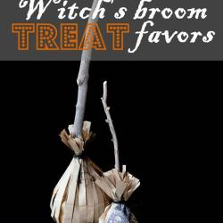 Halloween in a Hurry:  Witch's Broom Treat and Caramel Apple Favors