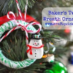 Baker's Twine Wreath Ornament Tutorial