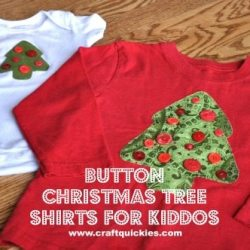 Button Christmas Tree Shirt Tutorial