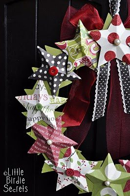 W3D paper star wreath tutorial how to