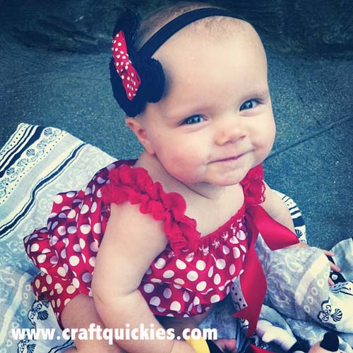 Such a sweet Minnie Mouse Headband from Craft Quickies