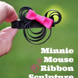 Minnie Mouse Ribbon Sculpture