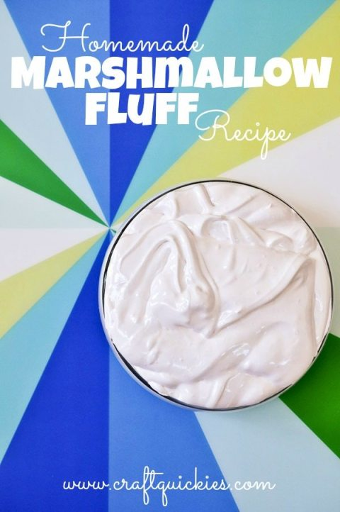 Homemade Marshmallow Fluff recipe. Surprisingly simple! Yum!