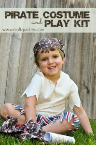 Pirate Costume and Play Kit from Craft Quickies