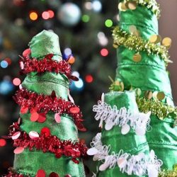 Foam for the Holidays: Glimmering Foam Trees