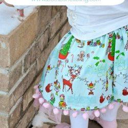 Pom-Pom Twirly Skirt Tutorial