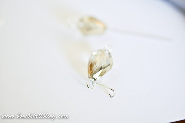 Gold Teardrop Earrings-5