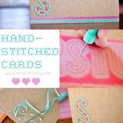 Hand Stitched Note Cards