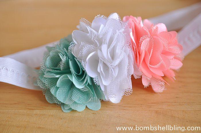 Make a pretty spring headband in 5 minutes flat!