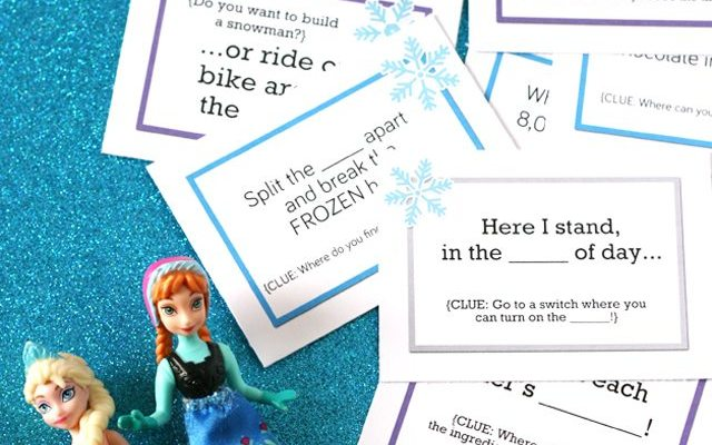 Frozen Scavenger Hunt